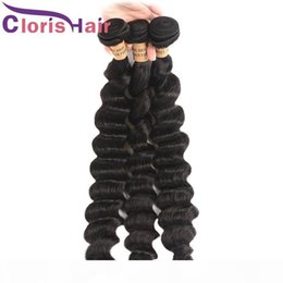 best loose deep wave hair NZ - Superior Real Human Hair Extensions Loose Deep Wave Malaysian Virgin Hair Bundles 4pcs Deals Best More Wave Hair Weave Tangle Free