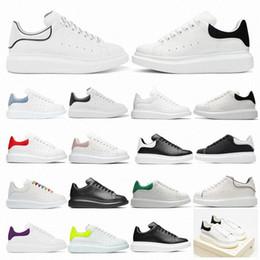 Alexander mcqueens mqueen queen diseñador de alta calidad hombres mujeres espadrilles planos plataforma zapatillas de deporte de gran tamaño afilrille zapatillas planas 36-46 en venta