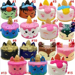 Discount squishies for wholesale Squishy Toys squishies Rabbit tiger unicorn cake panda pineapple bear cake mermaid Slow Rising Squeeze Cute Cell Phone Strap gift for kid to