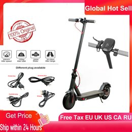ABD, AB Stok Akıllı Elektrikli Scooter katlanabilir 30km Max Kilometre Kick Scooter Çift Fren Kaykay ile APP