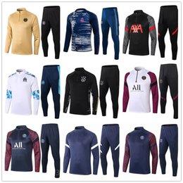 Wholesale jogging suits for sale – designer top new mens football tracksuit soccer tracksuit training suit jacket men training survetement foot chandal tuta jogging