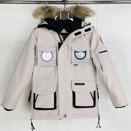 Wholesale mens corduroy coats for sale – winter Designer Coats White Black Clothing Parkas Genuine Designer YKK Sneaker Down Mens Womens Velcro Casual Size XS XXL