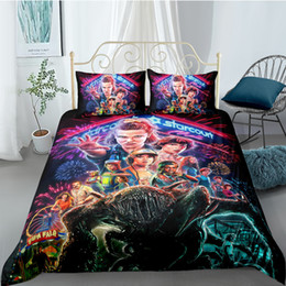 king queen gifts NZ - 3D Anime cartoon Printed Pillowcases Bedding Set Queen King Size Dropshipping Boy gift Movie cartoon Stranger Things 201210