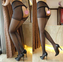Wholesale men silk panties for sale - Group buy Women s open end summer Sexy underwear stockings silk stockings Free thin meat color anti hook silk Sexy Underwear Panties black socks H1BQO
