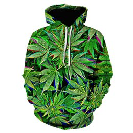 green leaf clothes Australia - Autumn Hot Winter Hoodies Green Leaves Coat Weeds Jerseys Fashionable Harajuku 3d Print Mens Clothing Oversized Jacket