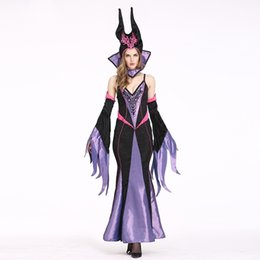 Wholesale sexy witch halloween fancy dress for sale – halloween 2020 Top Quality Sexy Halloween Witch Costumes for Themed Party Velvet Long Noble Evil Queen Fancy Dress Angelina Jolie