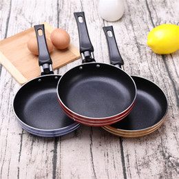Flacher Boden Brat Pot Spiegeleier Steak Mini Verdickung Nichtstock Kochgeschirr Multicolor Single Person Küche Praktisches Gadget 4 96JQ J2 im Angebot