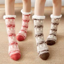 Wholesale cute stocking resale online - Fashion Christmas Warming Stocking Winter Cute Wool Socks Women Thicken Thermal Warm Animal Sock Christmas Gift DDA671