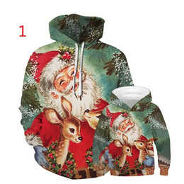 matching outfits for father daughter NZ - Vieeoease Kids Adult Sweatshirts for Christmas 2020 Fall Fashion Print Snowman Santa Claus Hoodies Family Matching Outfits CC-797
