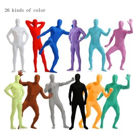 Wholesale cosplay custome for sale – halloween Adult Lycra Full Body Zentai Suit Custome for Halloween men Second Skin Tight Suits Spandex Nylon Bodysuit Cosplay costumes