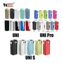 Neueste 11 Farben Authentic Yocan UNI PRO S Box Mod 650mAh vorheizen VV Vape Batterie für alle 510 Themen-Carts Cartridge 100% Vorlage im Angebot