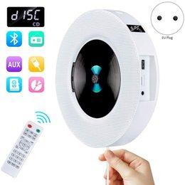Tragbare Wandmontage Bluetooth CD-Player USB-Laufwerk LED-Anzeige HiFi-Lautsprecher o mit Fernbedienung FM Radio Built-In (EU-Stecker) im Angebot