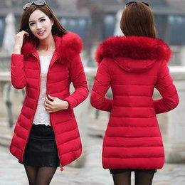Wholesale long padded coat sale for sale – warmest winter Hot sale women s coat Korean version long cotton padded lady s thicker cotton jacket down parka