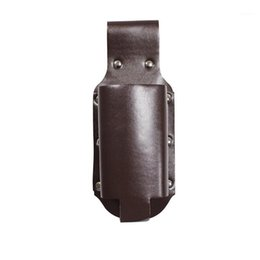 Discount leather waist bags for men Outdoor Mountaineering Beer Waist Packs Pocket Waist Pack Bag Belt Beer Bottle Cover For Men PU Leather Fanny Pouch Hanging Bags1