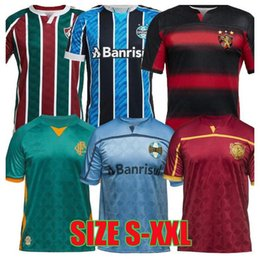 Wholesale brazilian gold for sale - Group buy 20 Sport Recife soccer jerseys Fluminense Years of Football Brazilian kits Gremio third football shirts camisetas