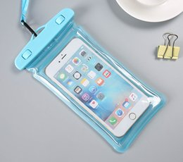 Cell phone waterproof bag mylar bags Eco-friendly EVA hot spring swimming Apple Samsung Android phone universal touch screen snorkeling wat