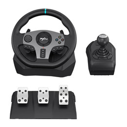 PXN-V9 Gaming Steering Wheel Pedal Vibration Racing Wheel 900 Rotation Game Controller for Xbox One 360 PC PS 3 4 for Nintendo Switch on Sale