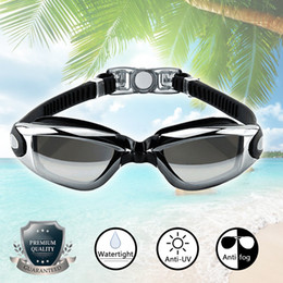 Wholesale Areyourshop Fitness Swimming Goggles Anti UV Fog Protection Electric Plating Glasses Eye Mask Cover Sporting goods Accessories Parts