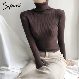 Stretch Turtleneck Sweaters Femmes Pull Vêtements d'hiver Femmes Fashion Fashion Automne Solide Solide Knit Sweaters Korean Top Shirt rayé 201030