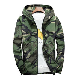 Wholesale trench coat men 4xl resale online - 2020 Spring And Autumn Mens Camouflage Trend Casual Hooded Jacket Men s Fashion Coat Camouflage Trench Coat M XL