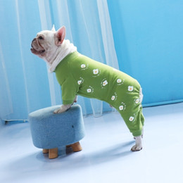 Discount gold dog clothes Winter Pet Jumpsuit Cotton Pets Dogs Clothing For Small Medium Dogs Costume Warm Dog Clothes French Bulldog Pet Clothes
