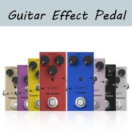 Vente en gros Effet de guitare Naomi Pédale Mini unique CC 9V pour la guitare électrique avec un taux d'intensité Contrôle de la pédale de guitare True Bypass