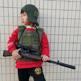 Bambini tattici all'aperto Gilet Attrezzatura dell'esercito uniforme per bambini Ragazzino Bambino Camouflage Kid Combat CS Caccia vestiti1 in Offerta
