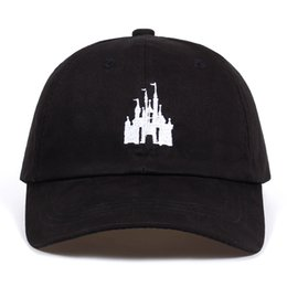 Wholesale new castle resale online - Cartoon castle dad hat Cotton Baseball Cap For Men Women Adjustable Hip Hop Snapback Cap Bone Garros Casquette new X1016