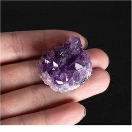 Discount quartz crystal geode 1pc Amethyst Stones Crystal Decorative Stones Geode Irregular Natural Amethyst Cluster Quartz Home Decor Natural Stone qylRmO