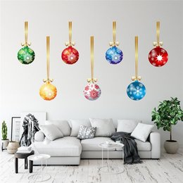 Discount christmas tree posters New Year Merry Christmas Decoration Snowman Snowflake Animals Pvc Wall Sticker Store Window Glass Decal Home Decor Poste