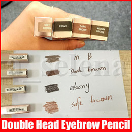 Wholesale Hot eye MAKEUP Double eyebrow pencil Skinny BROW PENCIL ebony   MEDIUM BROWN Double ended with eyebrow brush