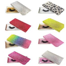 Wholesale 14 Styles Diamond Packing Box 3D Eyelashes Empty Packaging Boxes Plastic Glitter Rhinestone Eye Lashes Case