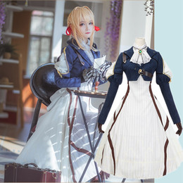 Wholesale violet evergarden for sale - Group buy New Anime Violet Evergarden Cosplay Costume Violet Evergarden Fancy Dress Outfit Halloween Adult Costumes for Women S XL