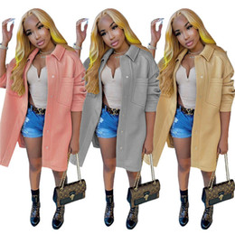 Womens wool blend coats designer jacket coat luxury fashion brand outwear top comfortable jacket fall winter women tops hot selling klw5311 on Sale
