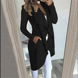 Femme Surdimensionné cascade à manches longues Cardigan Femmes Baggy Knit Coat