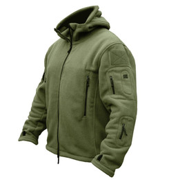 Wholesale military fleece jackets resale online – HAN WILD Winter Airsoft Military Jacket Men Fleece Army Tactical Jacket Thermal Hooded Jacket Coat Outerwear Hoody Mens Clothing