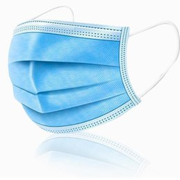 about face mask Canada - Face Arrive in Pcs about 3-7 Disposable days 50 Masks Thick 3-Layer Masks with Earloops for Salon, Home Use Comfortable in stock et