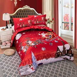 king queen gifts NZ - Merry Christmas printed Bedding Set for comforter Single Double Queen King Single sizes bed linens set Xmas Christmas gift Y200111