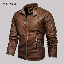Wholesale military motorcycle jackets for sale – winter Tactical PU Leather Jacket Men Winter Fleece Warm Military Casual Leahter jackets Male Slim Fit Motorcycle Windbreaker Outwear