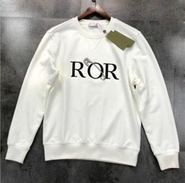 Wholesale hoodies off white resale online - Mens Designer Sweatshirt Men Women Sweater Hoodie Long Sleeve Pullover off Hoodie Streetwear Fashion big pin Embroidery white Black Hoodie