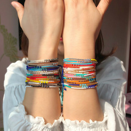 Silk Thread Bracelet Love Cuff Bangle Charm Punk Opening Simple Wristband Women Fashion Knot for lovely gift