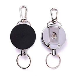 2Pcs Retractable ID Card Badge Reel Heavy Duty Door Pass Key Chain Holder