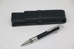 Classi high quality Ballpoint pen Top black down silver body with Crystal head cover lattice Stainless steel Silver Trim