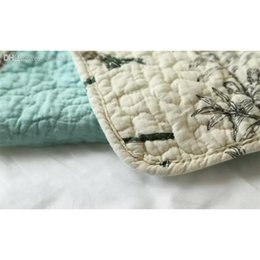 Wholesale-100% Cotton Quilt Bedspread Pastoral Bird And Flower Bed Quilt 3pc Set King Size Quilt Cover Set Home Text jllnCY warmslove on Sale