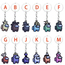anime car accessories Canada - Games Keyrings Designers Anime Among Among Cartoon Keys Keychain Colourful Us Us Cute Keychains Car Keychain Accessories Cheap E122403 Wkha