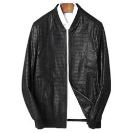 Wholesale sheepskins coats for sale - Group buy Leather Jacket Men Baseball Jackets Autumn Winter Jacket Men Genuine Sheepskin Coat Plus Size Streetwear LSY088005 MY1674