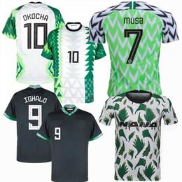 Toptan satış 2018 2019 2020 2021 Nijerya Futbol Formaları Musa Simon Ogu Etbo Ejuke Mikel Musa Ndidi Ighalo Iheanacho Onazi Futbol Erkek ve Çocuk Gömlek