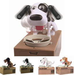 Discount plastic dog banks Robotic Dog Banco Canino kids Money Box Money Bank Automatic Stole Coin large Piggy Bank Money Saving Box Moneybox Gifts for kid 201125