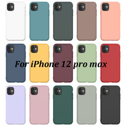 Plain Color TPU Phone Case For iPhone 12 Pro Max XR 7 8 Plus X XS Max 11 Protective Soft Silicone Cover