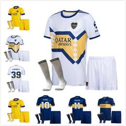 2020 2021 Boca Juniors futebol Jersey Casa Fora kit Boca Juniors GAGO OSVALDO CARLITOS PEREZ DE ROSSI TEVEZ PAVON JRS KIDS + meias em Promoção